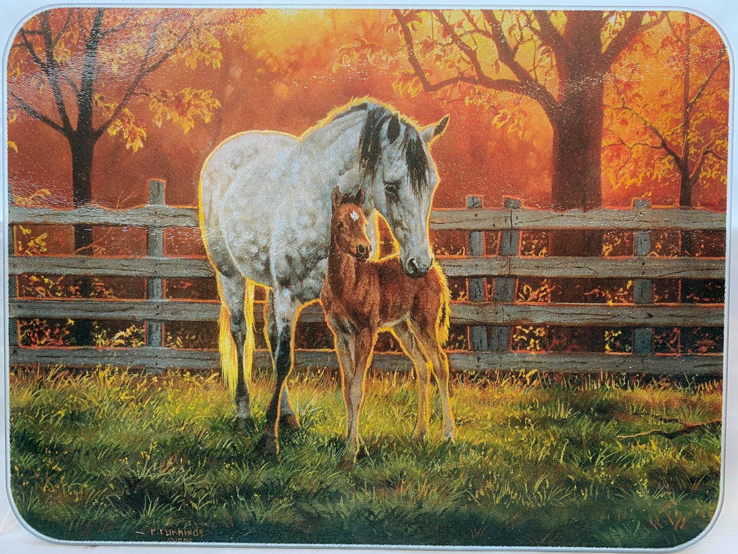 Hest med føll